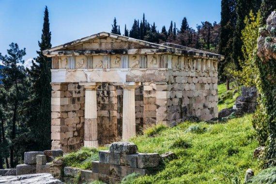 афинское сокровище в Делфы