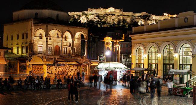 Экскурсия по ночным Афинам, Экскурсия по ночным Афинам